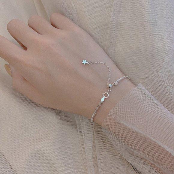 Jewelry - 925 Sterling Silver Braided Shooting Star Bracelet